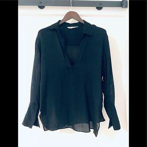 🖤SALE🖤 Zara - semisheer black striped blouse